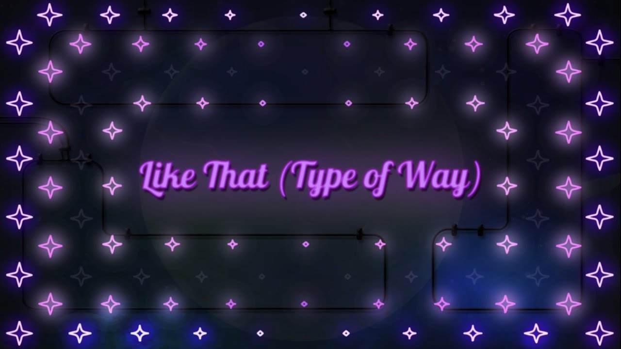 Courtney Bonds - Like That (Type of Way) [Official Lyric Visualizer]