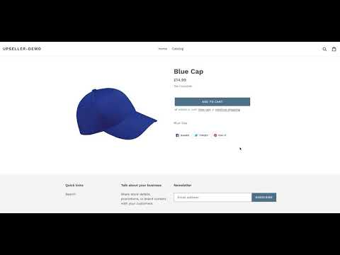 Shopify Action Upsell App