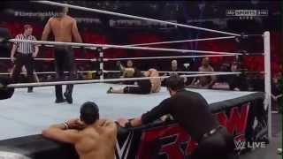 Đô Vật Mỹ John Cena vs Seth Rollins Lumberjack Match   Raw,2015