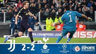 Melhores Momentos - Juventus 2 x 2 Tottenham - Champions League (13/02/2018)