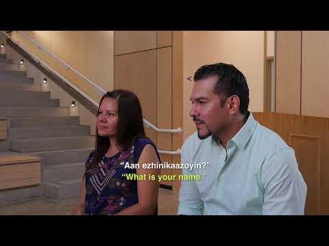 Learning Ojibwe Language Video Lesson #1