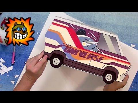 Mr. Universe Van papercraft - Steven Universe cosplay