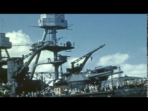 Archival Footage of the USS Nevada (BB-36)