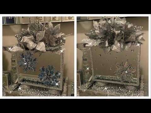 Dollar Tree DIY Christmas Decor | Mirror Vase