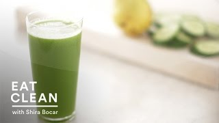 Green Cucumber And Pear Juice - Eat Clean With Shira Bocar