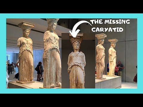 BRITISH MUSEUM, the stolen 415BC statue (Caryatid) from the ACROPOLIS of ATHENS (GREECE)