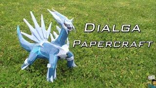 Dialga de papel - Pokemon Papercraft #3 | FelipeBlast