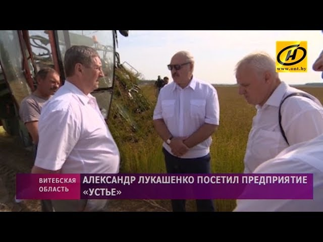 Что увидел Александр Лукашенко, посетив предприятие «Устье» в Оршанском районе?