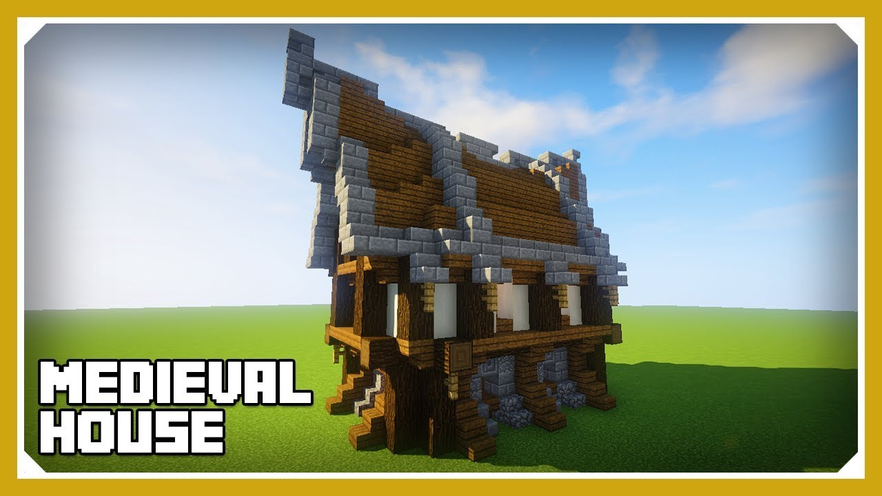 Minecraft: How To Build A Small Medieval House Tutorial (Easy Survival  Minecraft House)