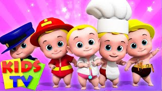 Five Little Babies | Junior Squad Videos | Kindergarten Nursery Rhymes For Babies By Kids Tv