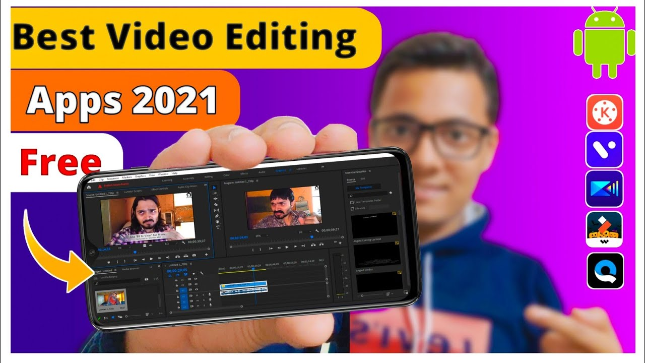 🔥Top 3 Best Free Video Editing Apps For Android 2021 |  Edit Pubg Gameplay,Funny Viral Video