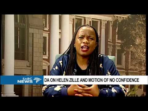 DA on Helen Zille and motion of no confidence 2
