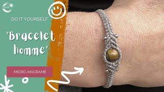 TUTO bracelet homme en micro-macramé