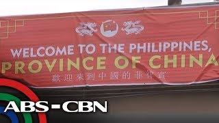 Bandila: Mga 'Province of China' banner, pinaiimbestigahan