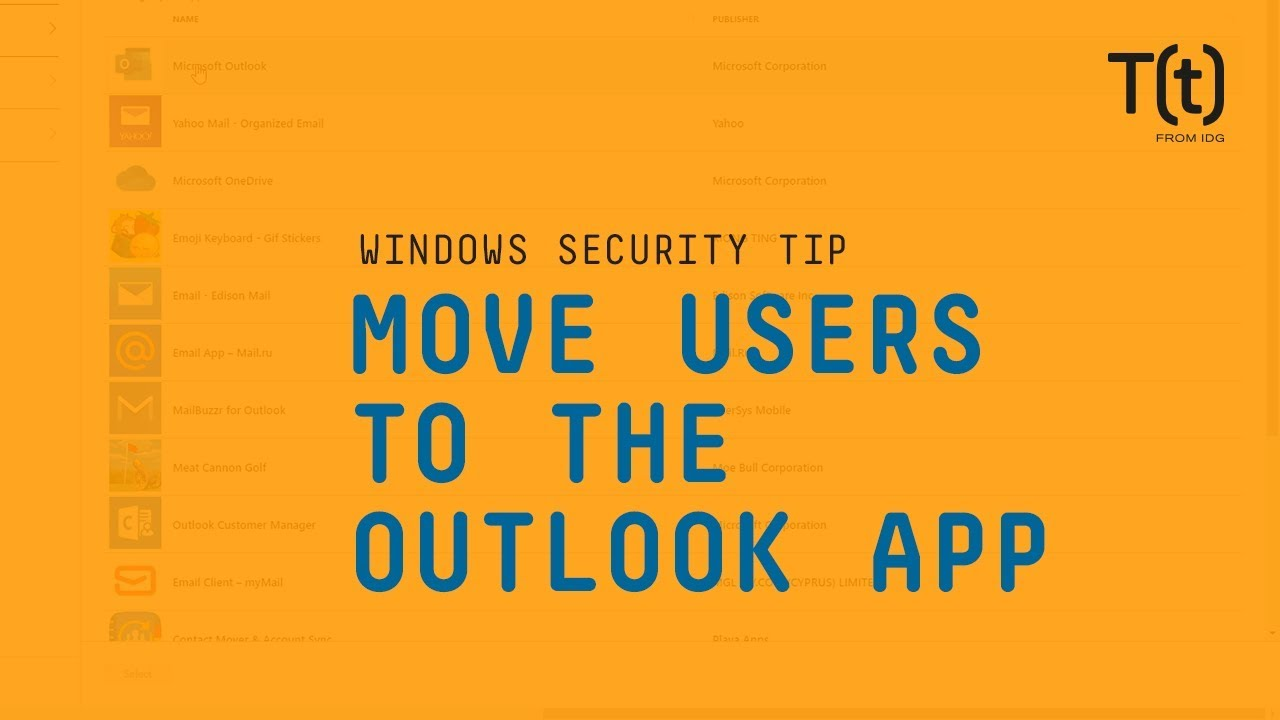 How to migrate smartphone users to the Outlook app with