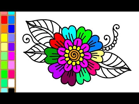 how-to-draw-flower-coloring-pages-for-kids-|-learn-to-draw-&-painting
