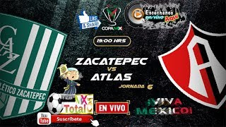Zacatepec vs Atlas en vivo  Copa MX Jornada 6 Apertura 2018