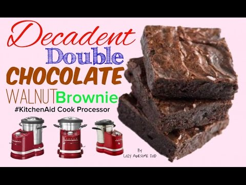 KitchenAid cook processor ARTISAN - Decadent double chocolate walnut BROWNIE