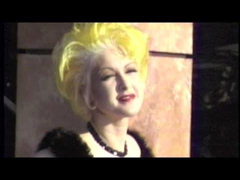 CYNDI LAUPER wears colorful fashion at 1995 Emmy Awards