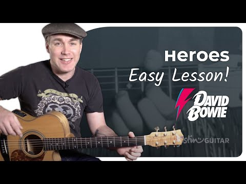 Heroes - David Bowie - Tribute Guitar Lesson Tutorial