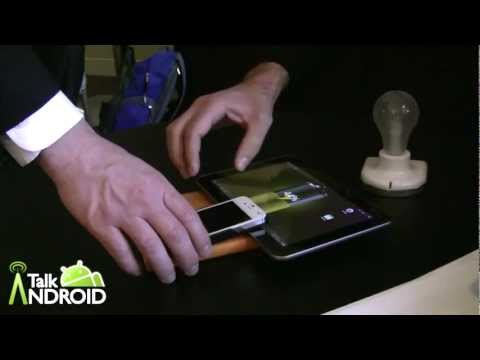 Wireless charging demos from the Alliance For Wireless Power