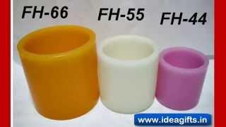 Hollow Pillar Led Diya Candles - Pillar Led Candles For Diwali Gifting.