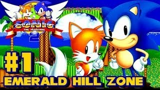 Sonic the Hedgehog 2 Genesis - (1080p) Part 1 - Emerald Hill Zone