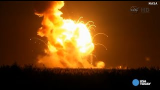 Watch Antares rocket explode during NASA launch