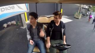 Darren Criss and Garrett Clayton with a behind the scenes look at the set of Hairspray Live