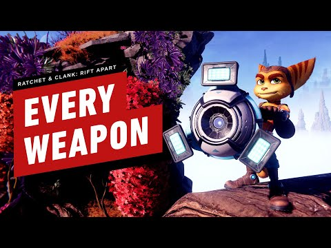 Every Weapon in Ratchet & Clank: Rift Apart - IGN thumbnail