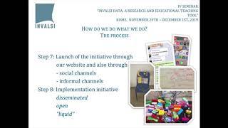 """IV seminar """"INVALSI data"""" - Presentazione Incantiere - English"""