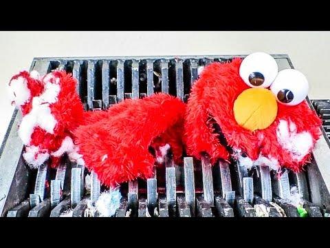 Shredding Tickle Me Elmo! What's Inside??