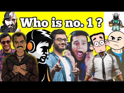 Top 10 Gamers in India 2019 | Carryminati, dynamo gaming, beastboy Shub, Jack Shukla | Noob Tuber