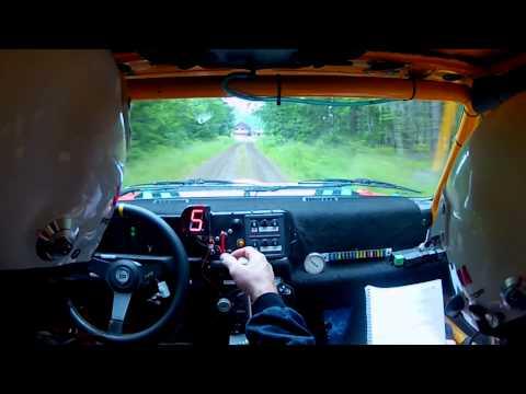 Gästabudstrofen ss4 2012  Nyköping Rally onboard  Gopro HD  Lancia Jan-olof Marklund