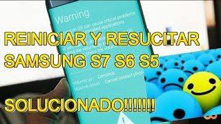MI CELULAR  SAMSUNG S7 S6 S5 NO PRENDE NI AL CARGARLO. PANTALLA NEGRA  (UNICA SOLUCIÓN 2018)