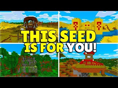 YOU SHOULD USE THIS REALLY GOOD MINECRAFT SEED! Villages, Biomes & More! (MCPE, Xbox, Switch, PC)