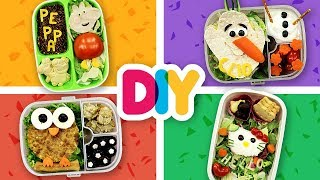 4 HEALTHY Baby Food Art BENTO BOXES | PEPPA PIG, FROZEN, HELLO KITTY | DIY Art & Crafts for Kids