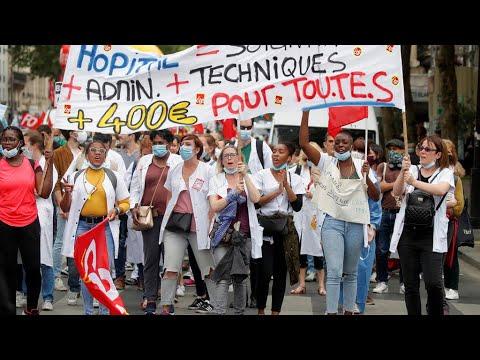العاملون في القطاع الصحي في فرنسا يتظاهرون مجددا للمطالبة بتحسين رواتبهم  - 16:01-2020 / 6 / 30