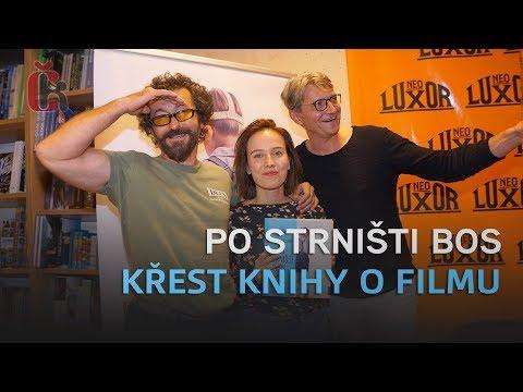 Jan Svěrák, Tereza Voříšková a Ondřej Vetchý pokřtili knihu Po strništi bos