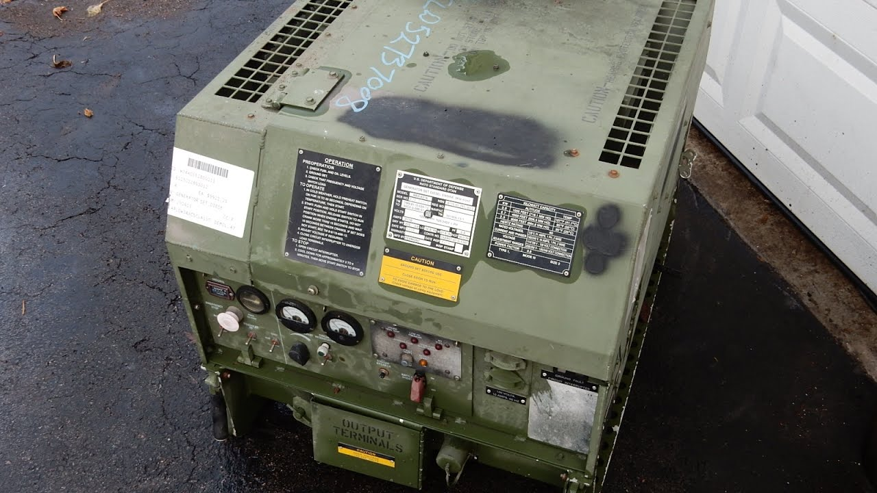 Diesel 3kw MEP-831-A Military Generator 120v & 240v For Sale