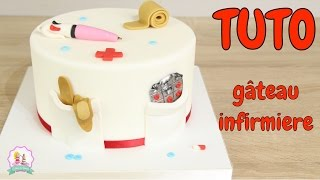 ♡• TUTORIEL DECORATION PATE À SUCRE GÂTEAU CAKE DESIGN INFIRMIERE  •♡