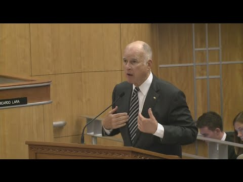 Gov. Jerry Brown Makes Impassioned Pitch For Climate Change Bill