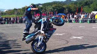 淡路バイクフェスティバルで行われた!エクストリームバイク世界チャン...
