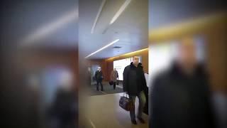 Видео прибытия Плотницкого в Мосвку 23.11.2017