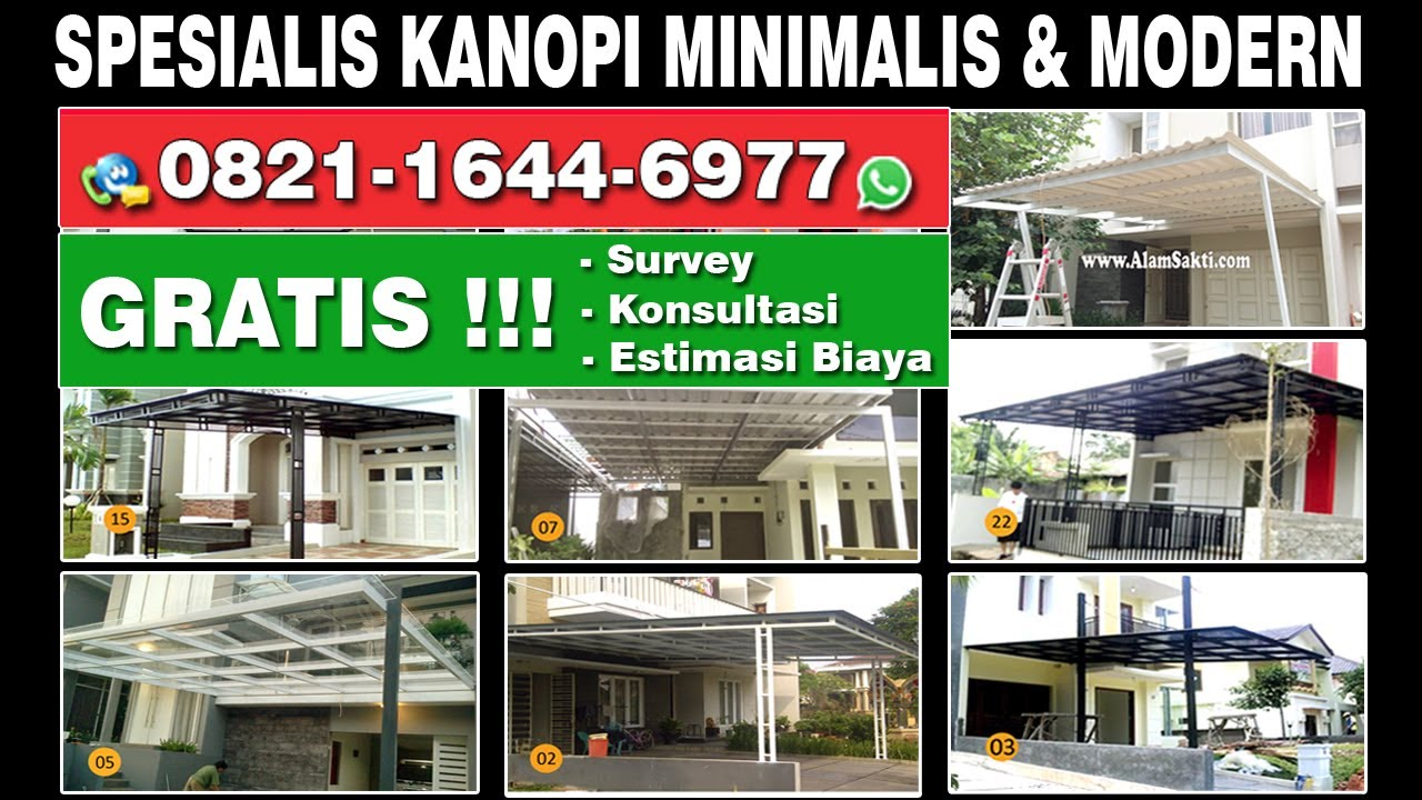 80 Model Kanopi Rumah Minimalis  dan Canopy Modern YouTube