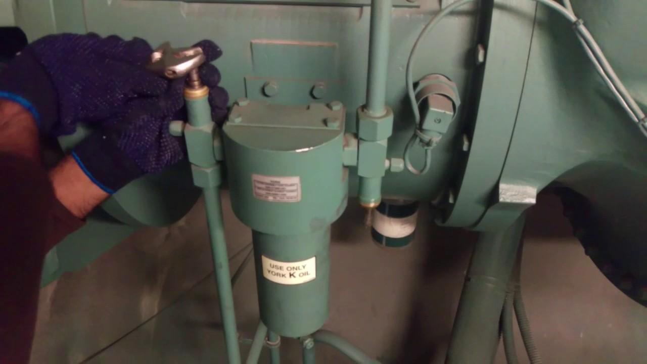 Replacing Oil Filter On York Chiller Youtube