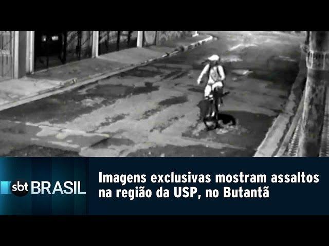 Imagens exclusivas mostram assaltos na região da USP, no Butantã | SBT Brasil (14/02/19)