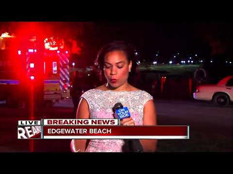 Coast Guard searching the water at Edgewater Beach for missing 13-year-old boy.