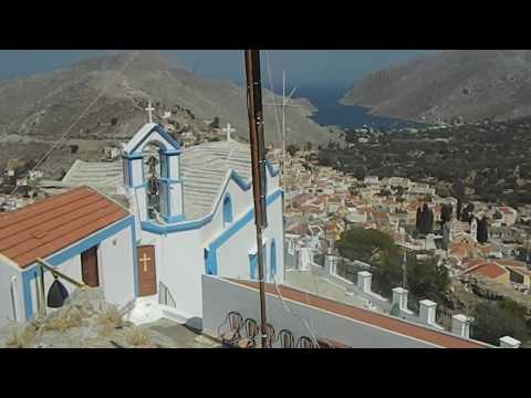 Megali Panagia church in Ano Symi, Dodekanisos, 31.08.2014.