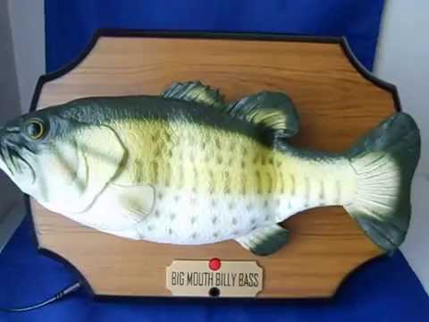 Big mouth billy bass fish motion activated don 39 t worry be for Big mouth fish